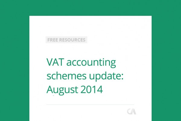 VAT accounting scheme update: August 2014
