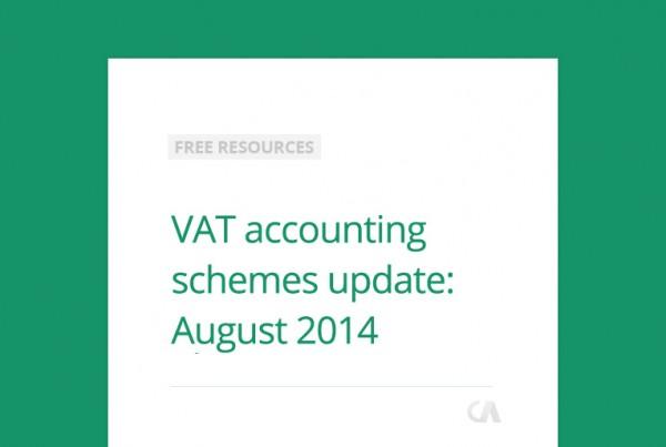VAT accounting scheme update: August 2014