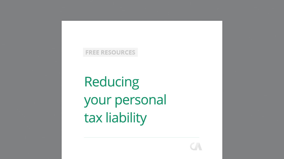 Reducing Personal Tax Liability