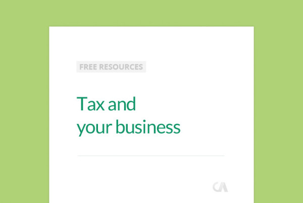 tax and your business