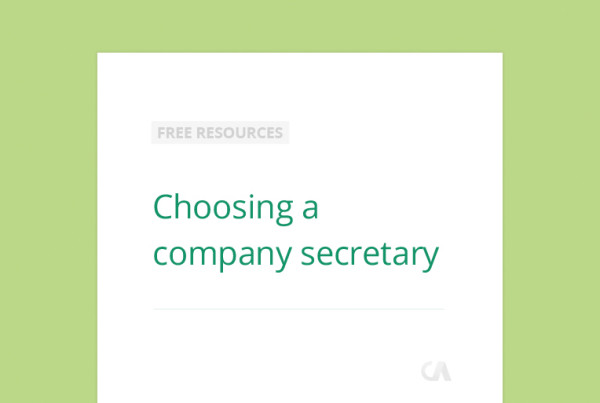 Choosing a company secretary