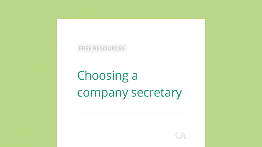 Choosing a company secretary