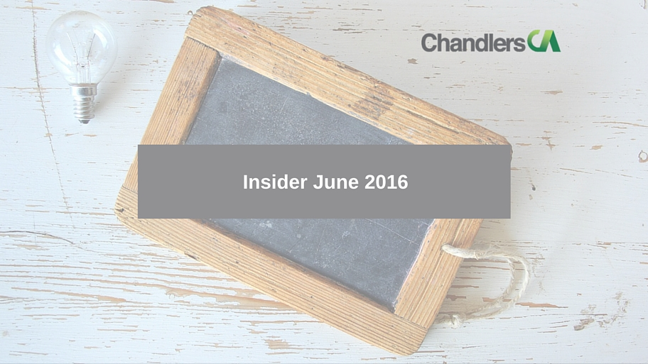 Insider tax and business report for June 2016