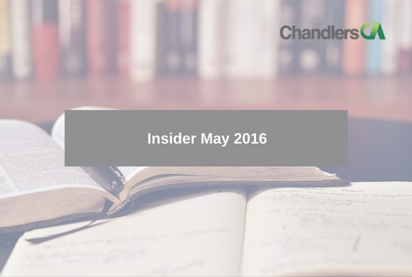 Insider tax report for May 2016