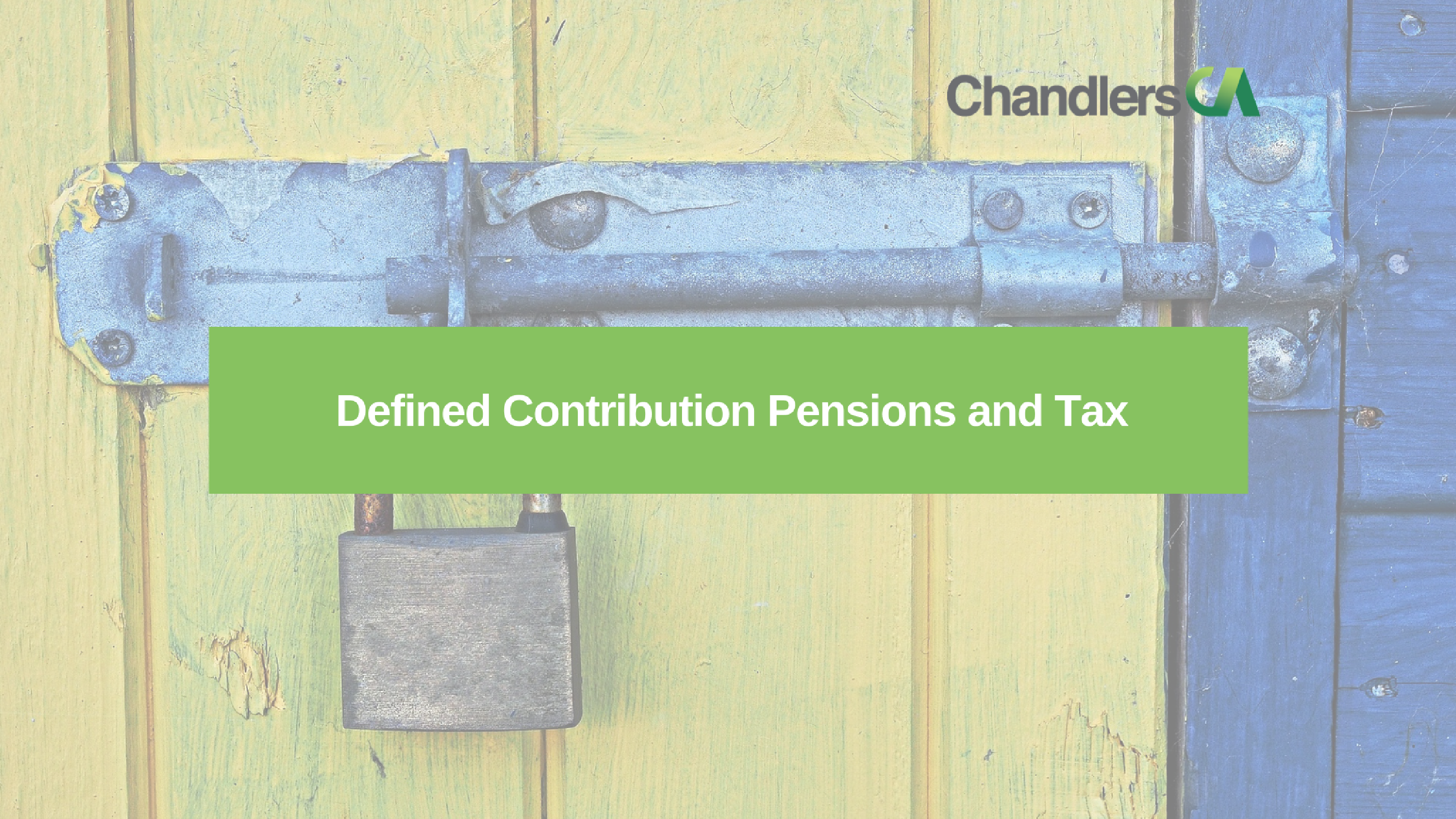 Guide to defined contribution pensions and tax