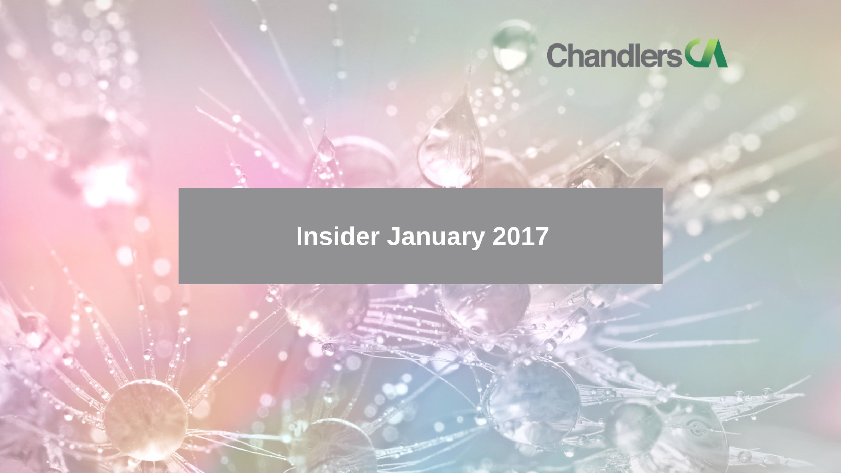 Tax Insider January 2017