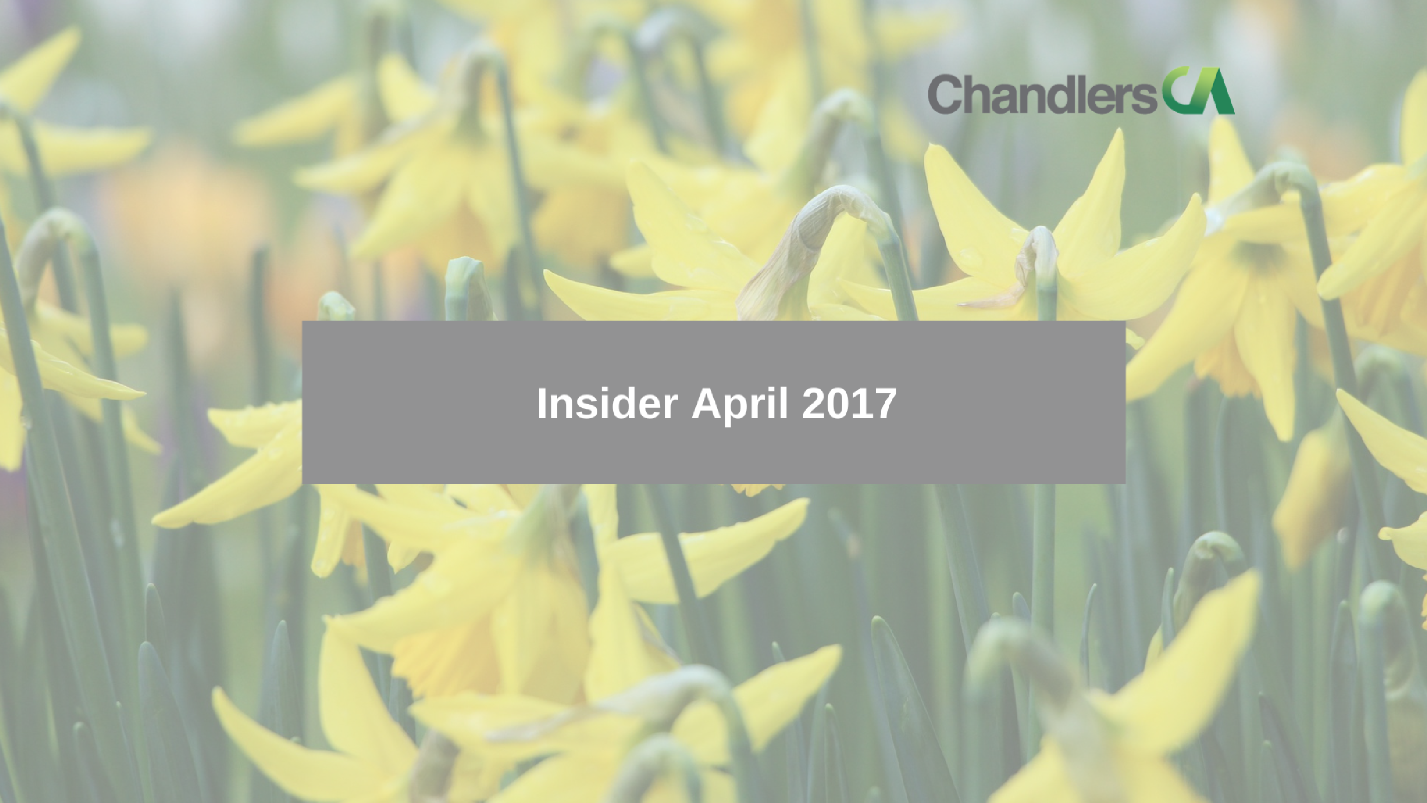 Insider tax guide for April 2017