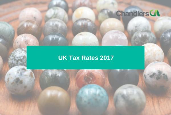 Tax card showing UK tax rates 2017
