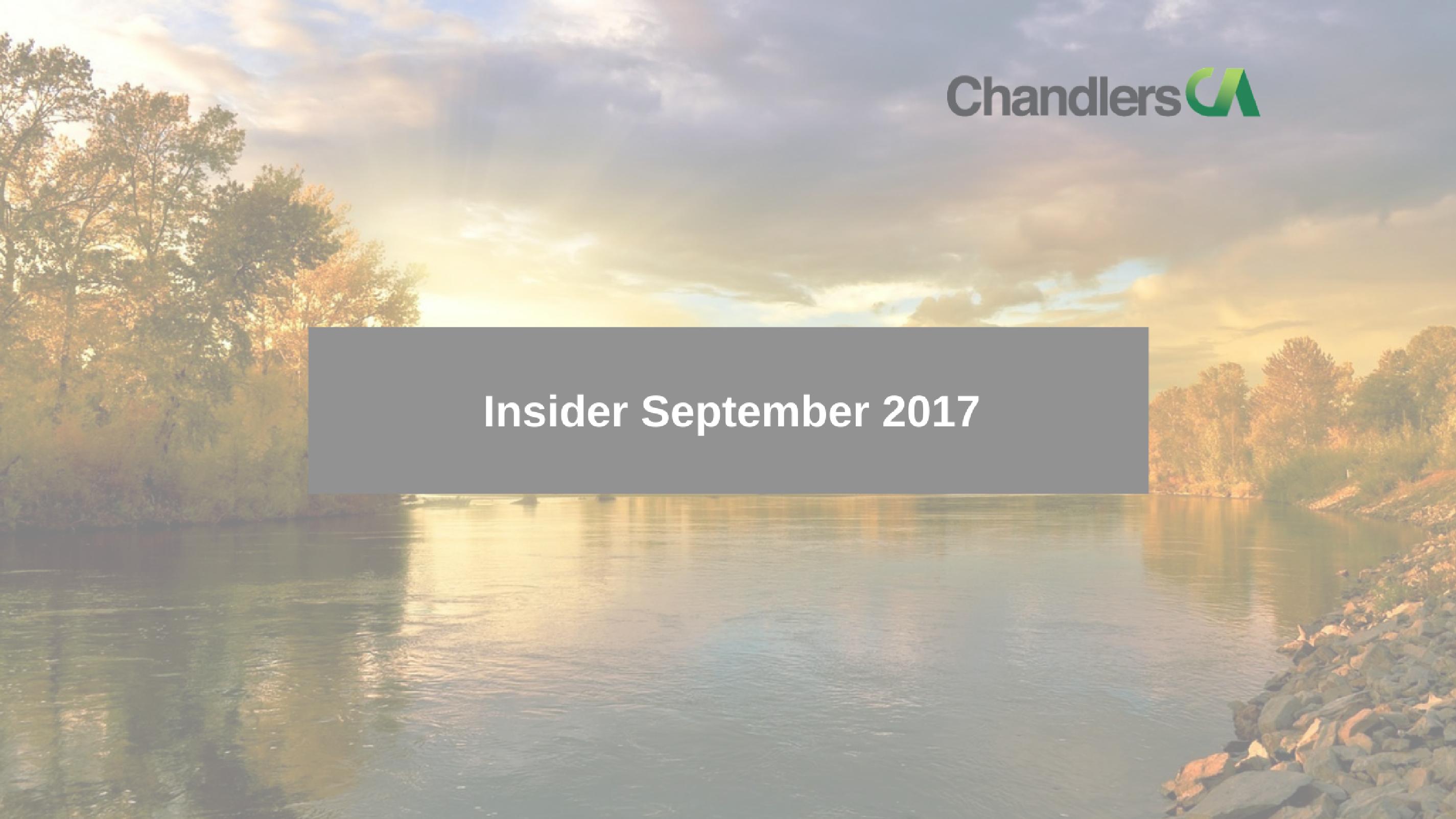 Tax Insider guide for September 2017