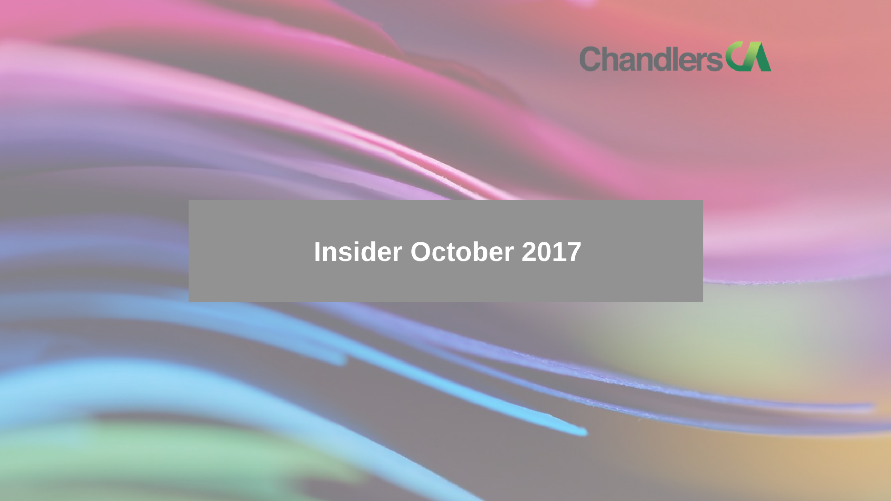 Tax Insider Guide for October 2017