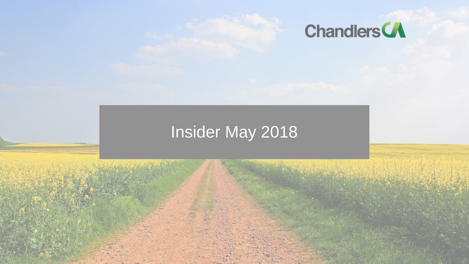 Tax Insider Guide for May 2018