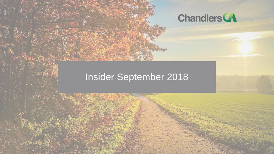 Tax Insider guide for September 2018