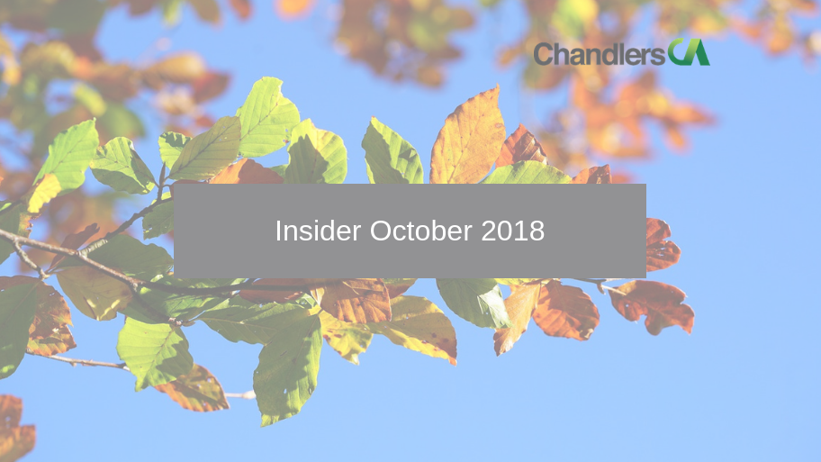 Tax Insider Guide for October 2018