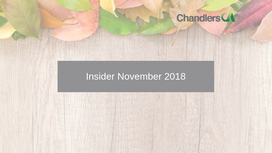 Tax Insider Guide for November 2018