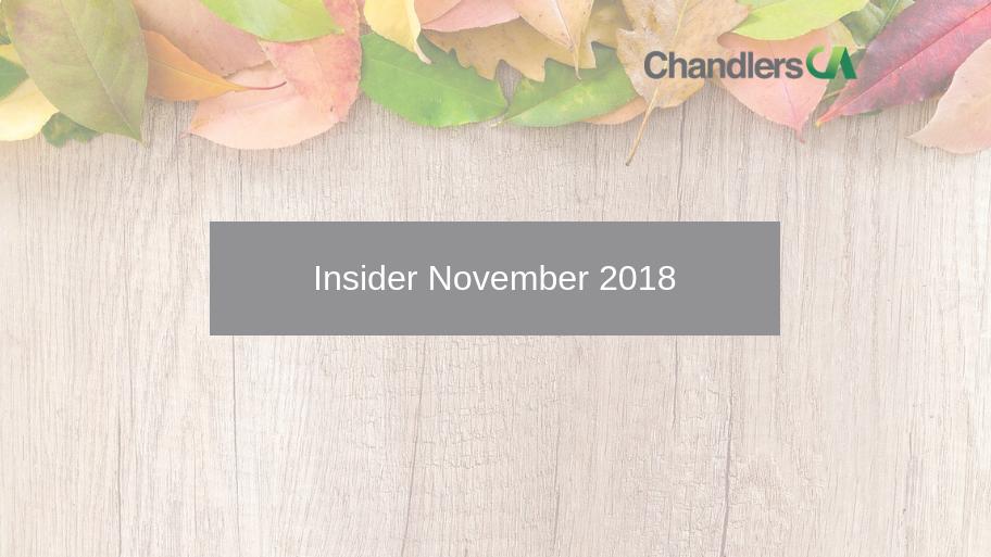 Tax Insider Guide for November 2018