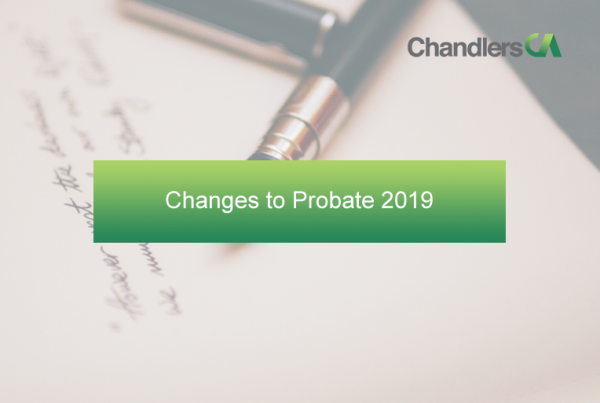 Changes to Probate 2019
