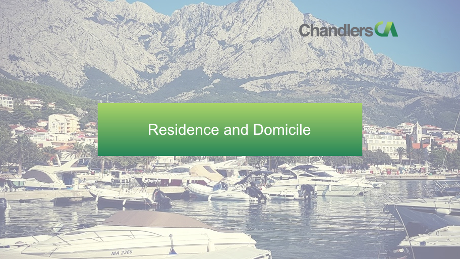 Chandlers CA - Residence or Domicile