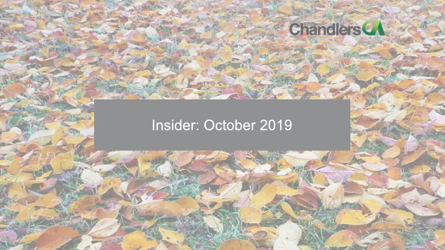 Insider: October 2019