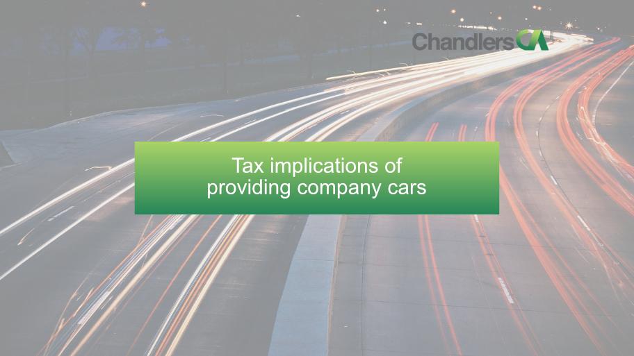 Tax implications of providing company cars