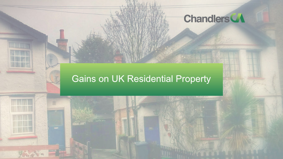 Gains on UK residential property