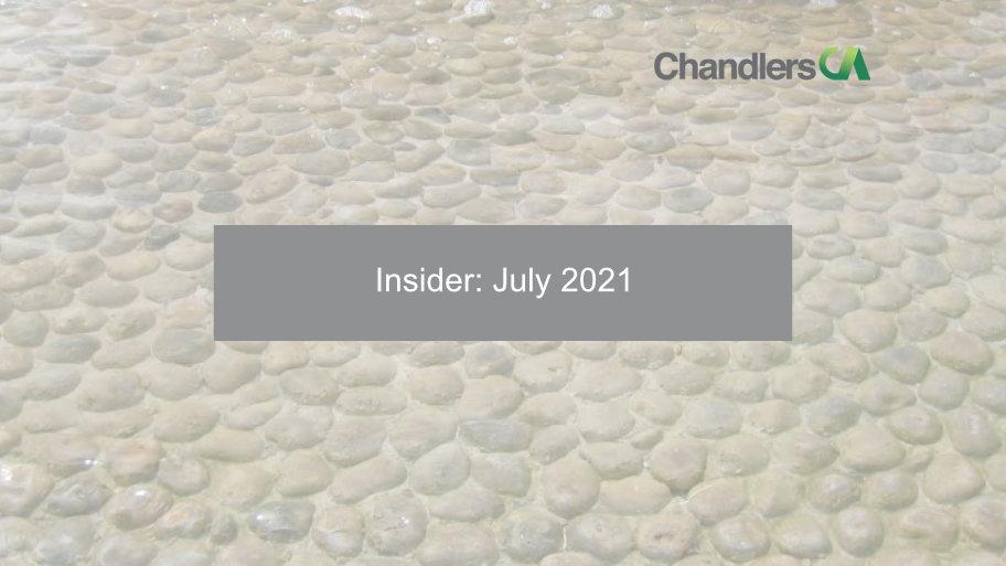 Chandlers CA - Insider: July 2021