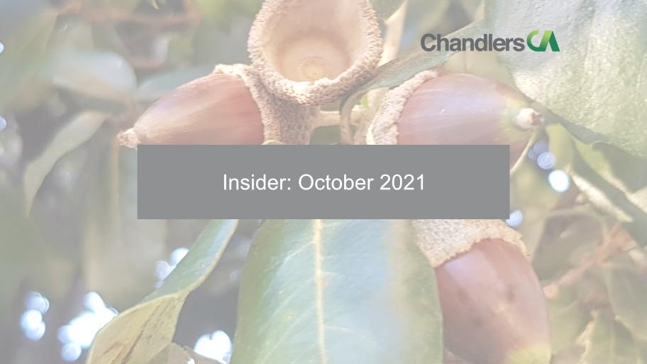 Insider: October 2021